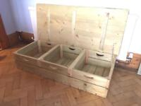 Wooden Handmade Rustic Coffee Table/ TV Unit