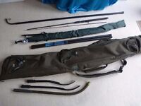 Nash rod holdall, weighing stick, boilie throwing sticks, umbrella (like new) job-lot