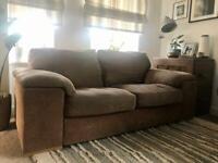 Two 2 seater sofas sofa