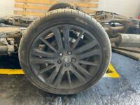 Range Rover wheels black with tyres 20inch