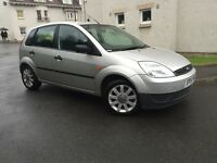 2004 FORD FIESTA 1.2 PETROL 5 DOORS-- FULL SERVICE HISTORY -- TIMING BELT DONE --MOT TILL FEB. 2017
