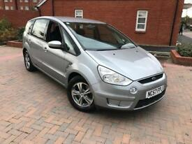 2007/57 FORD SMAX 2.0 TDCI ZETEC 6G DIESEL 2 LADY OWNERS 7 SEATS FREE WARRANTY
