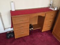 Wooden dresser and drawers