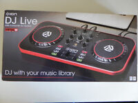 ION DJ Live 2 Channel Virtual DJ Controller for Mac - PC Laptop Mixer