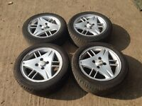 "Ford Fiesta / focus / escort 15"" alloy wheels - good tyres"