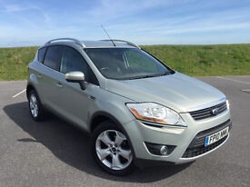 2010 FORD KUGA 2.0 TDI ZETEC IN SILVER WITH FULL SERVICE HISTORY AND NEW MOT WITH NO ADVISORIES!