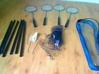 Badminton set with 4 Rackets plus Net plus 2 Shuttle cocks, Excellent condition!