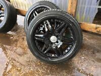 """Alloy wheels 18"""" split rim style 'Mercedes ' twin blade"""