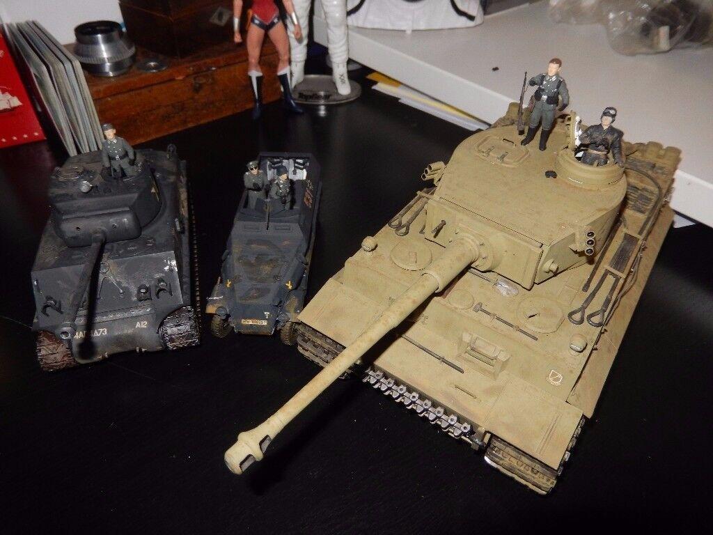 Vintage Tamiya Models & Figures - German Tanks - Stunning