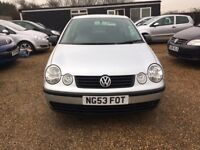 VOLKSWAGEN POLO 1.2 TWIST HATCHBACK 3DR 2003(53)*IDEAL FIRST CAR*CHEAP INSURANCE*EXCELLENT CONDITION