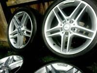17 inch 5x112 genuine staggered Mercedes C-class AMG alloys wheels