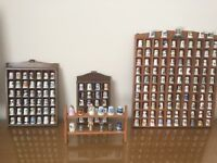 THIMBLES 182 IMMACULATE worldwide collection vintage & modern complete with display storage cases