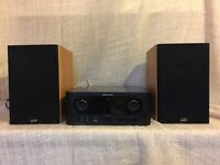 MARANTZ M-CR603 CD Receiver and GALE Gold Monitor Speakers
