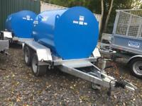 Bunded fuel Bowser 1000 ltr fully legal ADR registered diesel fuel Bowser