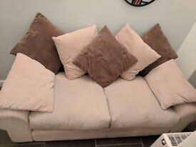Jumbo Cord Cream Deep Seat, Scatter Back up to 4 Seat Sofa from SCS - Super Comfy!