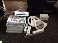 nintendo wii excellent working order with lots games