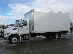 2017 Hino 258LP with a 20 ft. van body, 3300 lbs. liftgat...