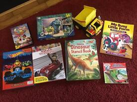Children's toys, puzzle and books bundles