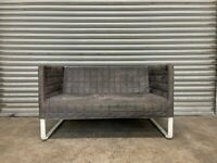 FREE DELIVERY GREY IKEA KNOPPARP SUEDE 2 SEATER SOFA GOOD CONDITION