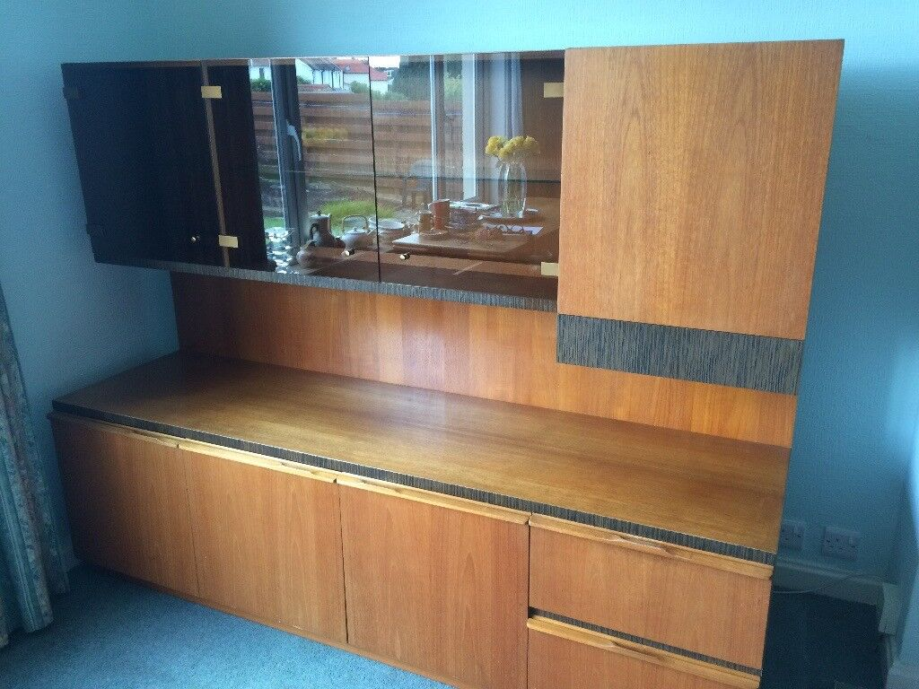 Shelving Unit Dining Room Storage Display And Drinks Cabinet In Vg Condition