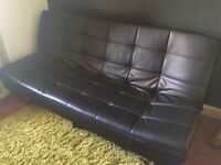 Leather sofa bed like new