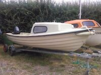 Bonwitco GRP 16 fishing boat with Merc 9.8 engine