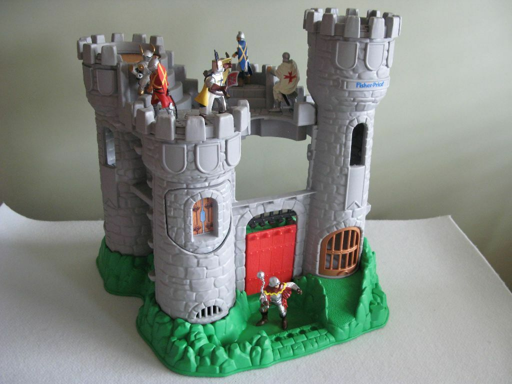 Fisher Price Toy Castle With 7 Papo Toy Knights In