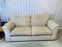Matching cream fabric 3 seater and 2 seater sofa *excellent condition* - Bathgate - Can deliver