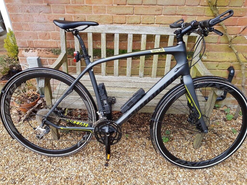 hibrid bike specialized sirrus carbon comp size l. Black Bedroom Furniture Sets. Home Design Ideas