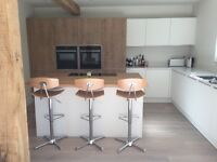 3 Oak Bar Stools for sale - £25 each plus p&p