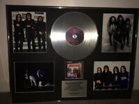 Black sabbath limited edition platinum disk, comes with certificate of authenticity