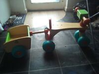 wooden trike and trailor