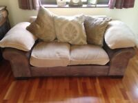 DFS 4+2 seater sofas and footstool