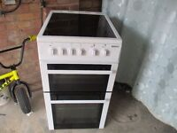 Epectric Cooker,2yr old 50cm wide Ceramic top double fan assisted oven.. very clean.
