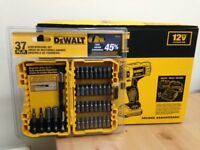 **BRAND NEW** DEWALT DCD716D2 12V HAMMER DRILL DRIVER & 37 PIECE SCREWDRIVING SET