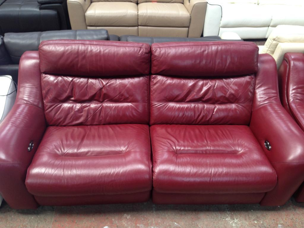 Furniture Village Halcyon ex furniture village halcyon electric sofa berry red 3+2 rrp 2500