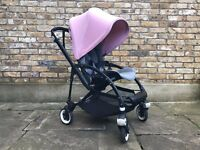 Bugaboo Bee 3 w/ raincover, nearly new + Compact Transport Bag!