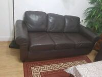 3 x seater real leather sofa
