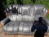 Suite 3+1 leather suite