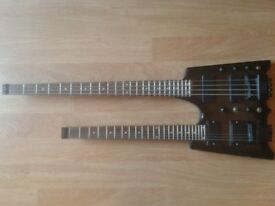 TWIN NECK GUITAR 6 STRING OVER BASS