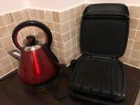 Red Kettle and George Foreman Grill