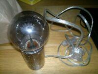 habitat pewter lamp retro