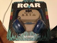 *Brand New* House of Marley Roar On-Ear Headphones with 1 Button Controller & Mic - Navy