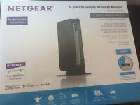 Netgear N300 Wireless Modem ROuter - unopened
