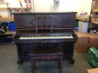 Free for collection: John Offer upright piano and stool