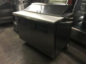 4 ft True Salad Topping Prep Table model TSSU - 48-12 like new only $1450!