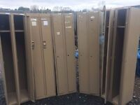 Five sets of double lockers