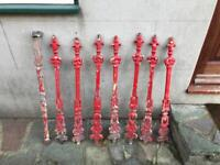 Stair nuel posts ornamental cast iron stair rails