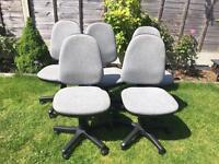 5 Office/Computer/Swivel chairs