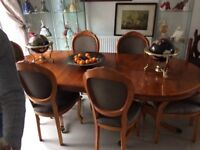 Dining table & 6 chairs - family sized